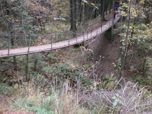 Подвесной мостик в Токсово